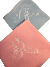 Personalised Dog Blanket. Letter Paw.